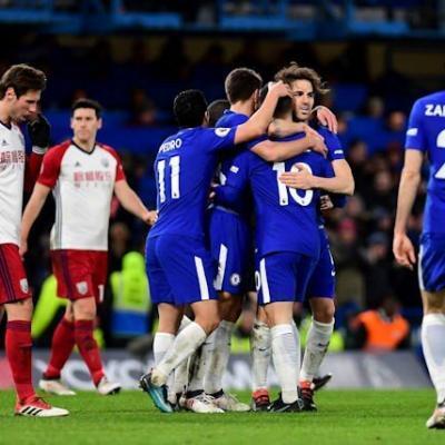 Chelsea won West Bromwich Albion