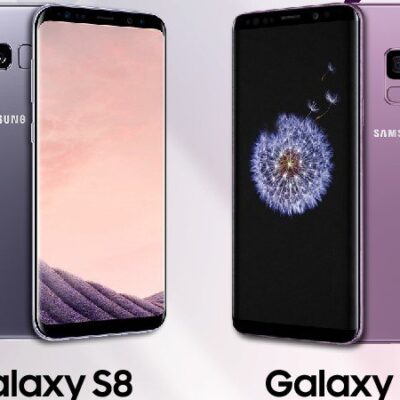 Samsung Galaxy S8 vs S9 android